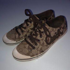 Coach classic tennis shoes 8